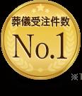 葬儀受注件数 No.1 調査会社調べ