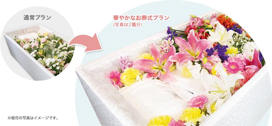 通常のお葬式プランと華やかなお葬式プランの違い