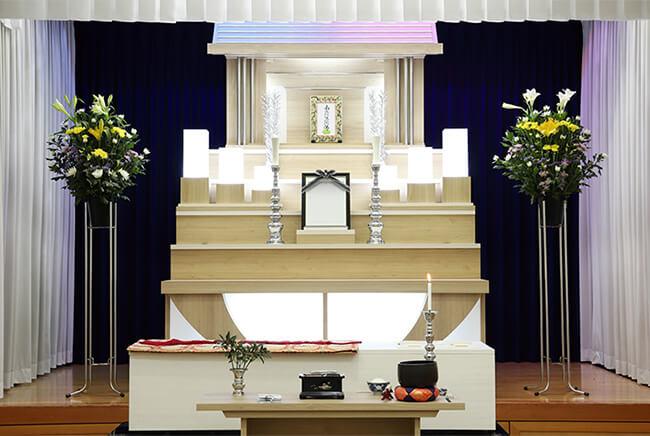 家族葬の祭壇イメージ画像
